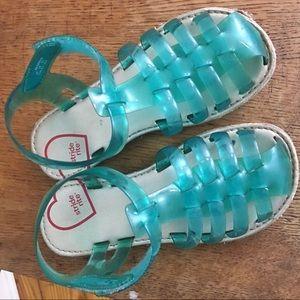 Stride rite Natalie sandals blue green size 9.5